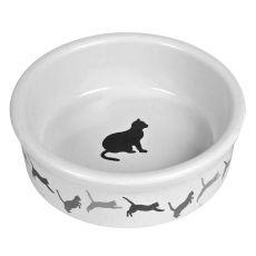 Ceramiczna miska dla kota, z wzorem - 250 ml