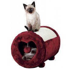 Drapak dla kotów, bordowe serduszko