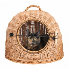 Pleciony koszyk dla kota - 45 cm