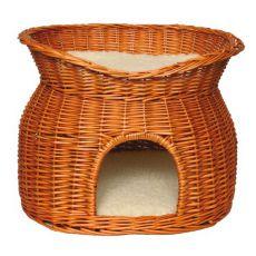 Wiklinowy kosz dla kotów i psów - jaskinia
