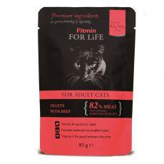 Fitmin Cat For Life Beef saszetka 85 g