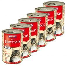 Animonda Cat BROCCONIS wołowina i drób 6 x 400 g
