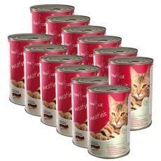 BEWI CAT Meatinis WILD 12 x 400 g konserwa