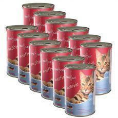 BEWI CAT Meatinis SALMON 12 x 400 g konserwa