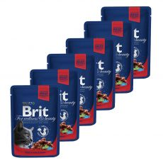 Saszetka BRIT Premium Cat Beef Stew & Peas 6 x 100 g