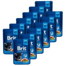 Saszetka BRIT Premium Kitten Chicken Chunks 12 x 100 g