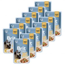 Saszetka BRIT Premium Cat Delicate Fillets in Gravy with Tuna 12 x 85 g