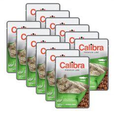 CALIBRA Cat Adult Sterilised kawałki z łososiem w sosie 12 x 100 g