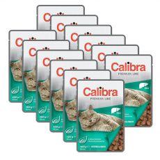 CALIBRA Cat Adult Sterilised kawałki z wątróbką w sosie 12 x 100 g