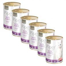 Konserwa Piper Cat Sterilised z królikiem 6 x 400 g