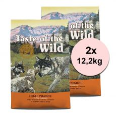 TASTE OF THE WILD High Prairie Puppy 2 x 12,2 kg