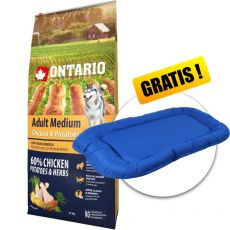 ONTARIO Adult Medium - chicken & potatoes 12kg+ PREZENT