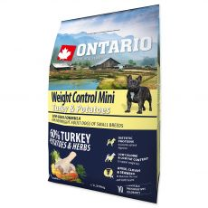 ONTARIO Weight Control Mini - turkey & potatoes 2,25 kg