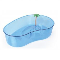 Terrarium z palmą dla żółwi duże niebieskie