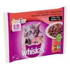 Whiskas Junior Klasyczna selekcja mięs w sosie 4 x 100 g