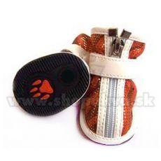 Buty dla psów, zamszowe – pomarańczowe (4szt), rozmiar nr. 3