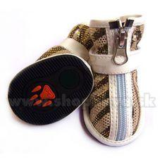 Buty dla psów, zamszowe – w kolorze jasnobrązowym (4szt), rozmiar nr. 3