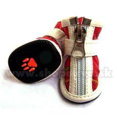 Buty dla psów na zamek - czerwone (4szt), rozmiar nr. 3