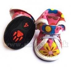 Buty dla psów – kolor różowy, we wzory arabskie (4 szt), rozmiar nr. 5