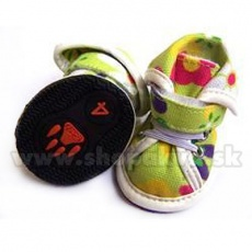 Buty dla psów - zielone we wzory arabskie (4szt), rozmiar nr. 3