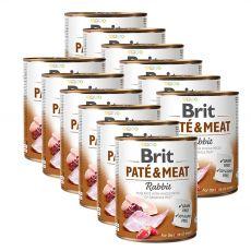 Konserwa Brit Paté & Meat Rabbit, 12 x 800 g