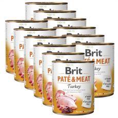 Konserwa Brit Paté & Meat Turkey 12 x 800 g