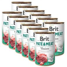 Konserwa Brit Paté & Meat Venison 12 x 400 g