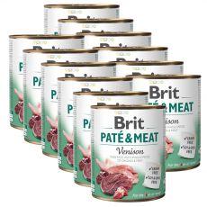 Konserwa Brit Paté & Meat Venison 12 x 800 g