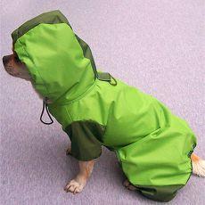 Płaszcz przeciwdeszczowy dla psa, zielony, XS