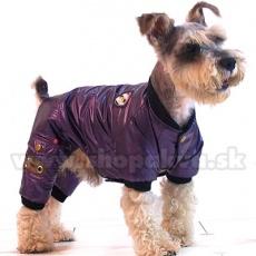 Kombinezon na zimę dla psa - fioletowy, XS