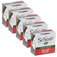 Schesir dog kurczak i wołowina w galarecie 5 x 150 g