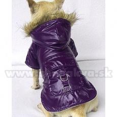 Wiatrówka dla psa - nieprzemakalna, fioletowa, XS