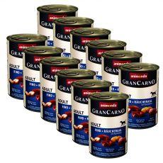 Konserwa GranCarno Fleisch Adult wędzony węgorz+ziemniaki- 12 x 400g