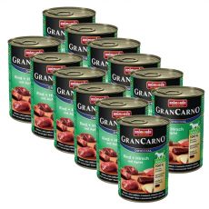 Konserwa GranCarno Fleisch Adult jelenina + jabłko - 12 x 400 g