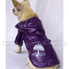 Kurtka przeciwdeszczowa dla psa - fioletowa, XS