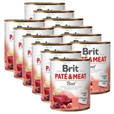 Konserwa Brit Paté & Meat Beef 12 x 800 g