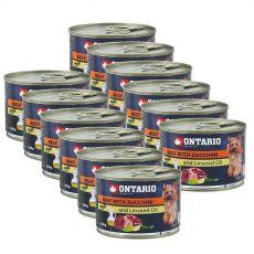Konserwa ONTARIO – Wołowina z cukinią i olejem lnianym – 12 x 200g