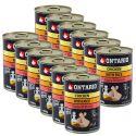 Konserwa ONTARIO Puppy dla psów, kurczak, ryż i olej - 12 x 400g