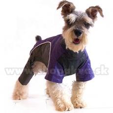 Kombinezon dla psa - fioletowo-czarny, XS