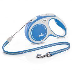 Flexi NEW COMFORT smycz M do 20kg, 5m linka – niebieska