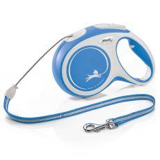 Flexi NEW COMFORT smycz M do 20kg, 8m linka – niebieska