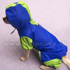 Płaszcz przeciwdeszczowy dla psa , niebiesko-zielony, S