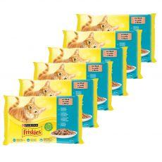 Saszetki Friskies Cat łosoś, tuńczyk, sardynki i dorsz w sosie 6 x (4 x 85 g)
