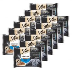Sheba Selection Rybia selekcja 12 x (4 x 85 g)
