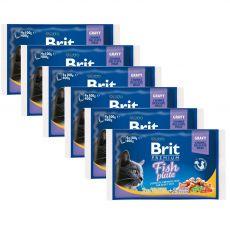 Saszetki BRIT Premium Cat Fish Plate 6 x (4 x 100 g)