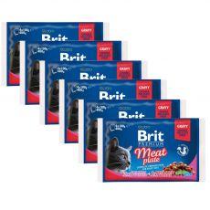 Saszetki BRIT Premium Cat Meat Plate 6 x (4 x 100 g)