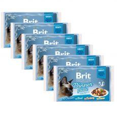 Saszetki BRIT Premium Cat Delicate Fillets in Gravy Dinner Plate 6 x (4 x 85 g)