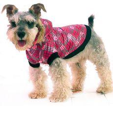 Kurtka dla psa - w kratę, różowa, XXL