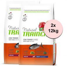 Trainer Natural Medium Adult ryba i ryż 2 x 12 kg