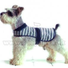 Kamizelka dla psa - czarno-biała, S